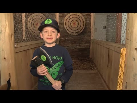 KSEE 24 News Many Spent Throwing Axes On Sunday At Yosemite Axe Throwing In Oakhurst.