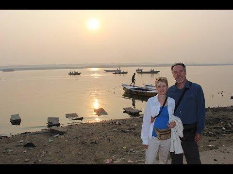 SUNRISE ON THE GANGES RIVER - Varanasi, India