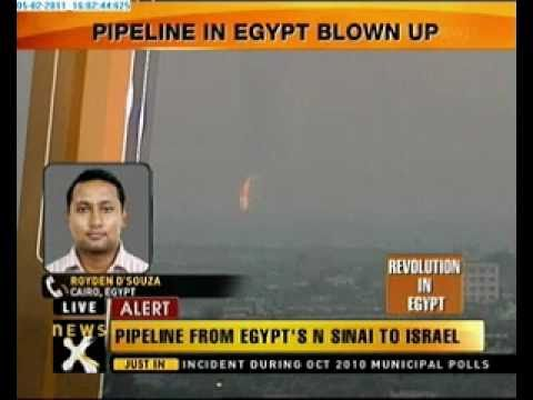 Gas pipeline in Egypt blown up