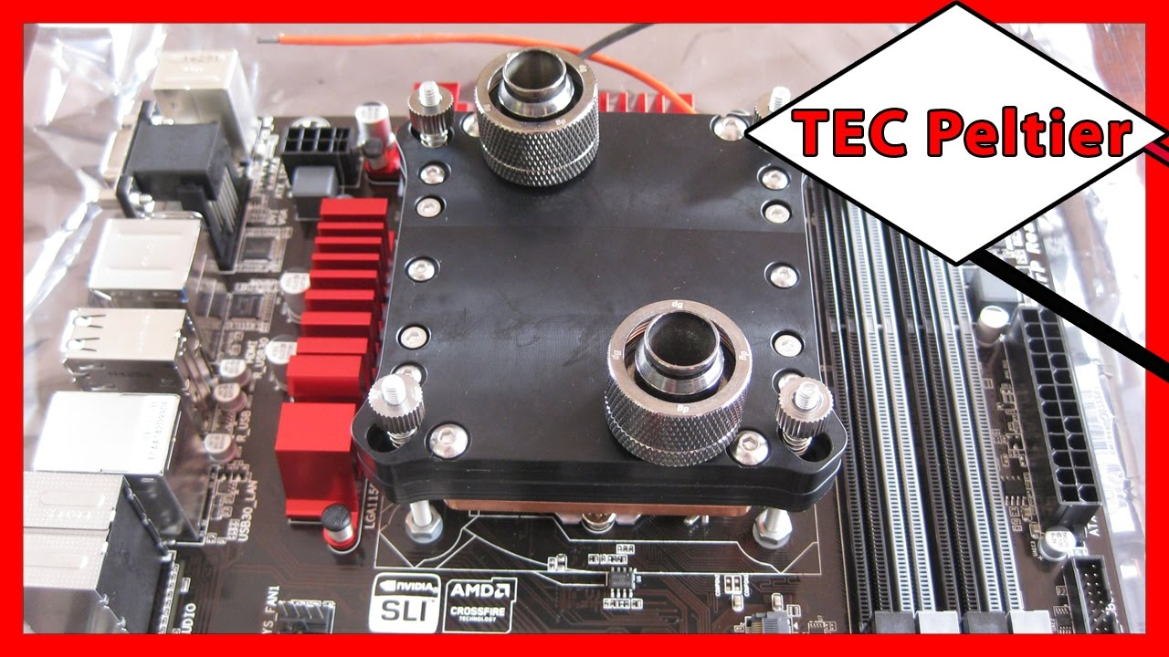 ⚡️ Thermoelectric Cooler (TEC) Peltier Water Block For Water Cooling a PC's  CPU  V4 Single 62mm