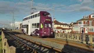 Modified Balloon Trams at Blackpool 29th October 2012