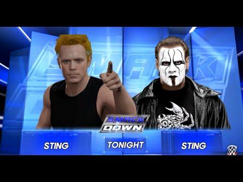WWE 2K16 Sting The Police Versus Sting Steve Borden