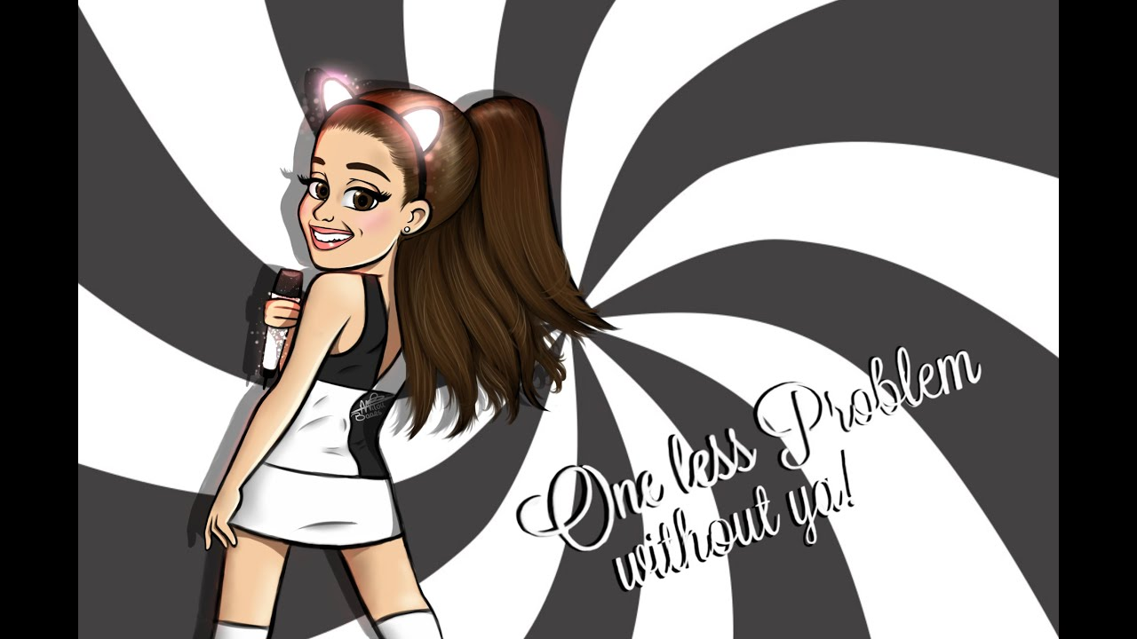 Ariana grande cartoon drawing problem by milou baars speed painting youtube