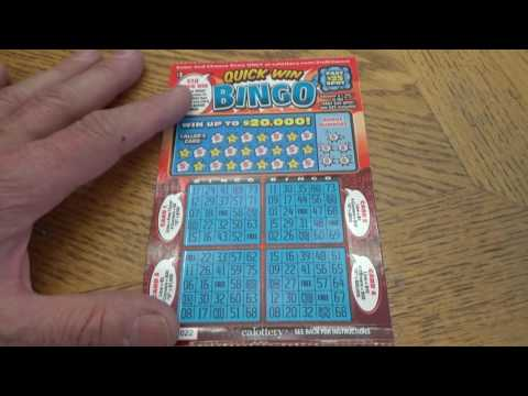 Word Games & Bingo Scratch Cards, CA State Lotto games