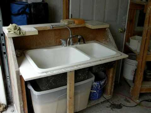 Portable Sink For Your Studio Have Running Water With Out