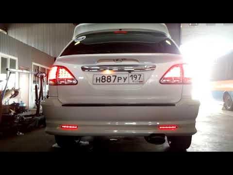 Бегающий поворотник, стоп сигнал, габаритные огни в заднем бампере Lexus RX300