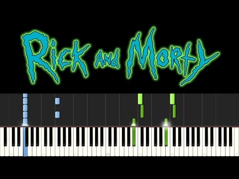 Rick And Morty (Piano Tutorial - Synthesia) - Main Theme Song (+ Sheets)