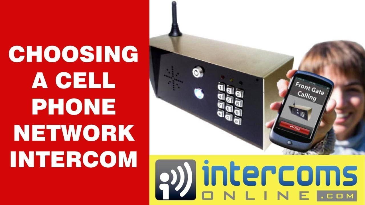 GSM Intercom for Cell Phone Network