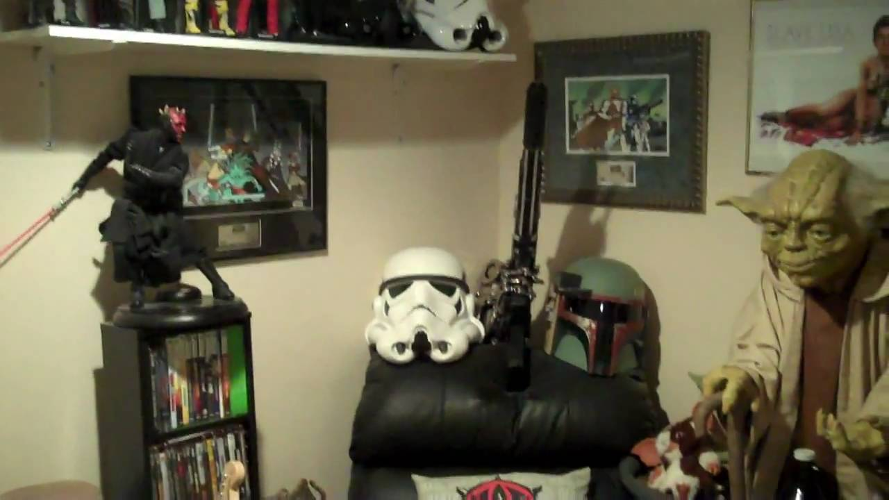 Man Cave War Room : Yodasnews star wars collection room home theater man cave 2011