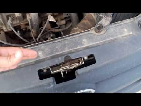 Как снять решетку радиатора на гранте без снятия бампера
