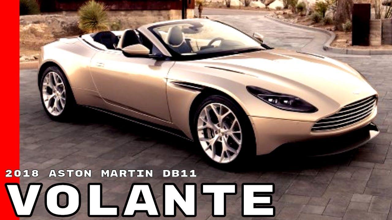 2018 Aston Martin Db11 Volante Convertible Youtube