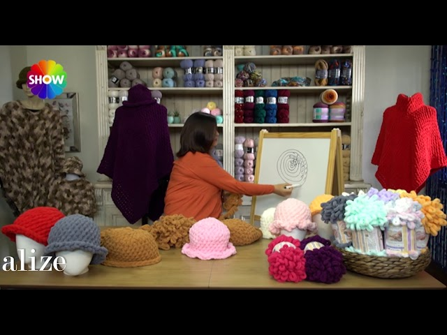 Alize Puffy ile ?apka Yap?m? - Making Hat with Alize Puffy