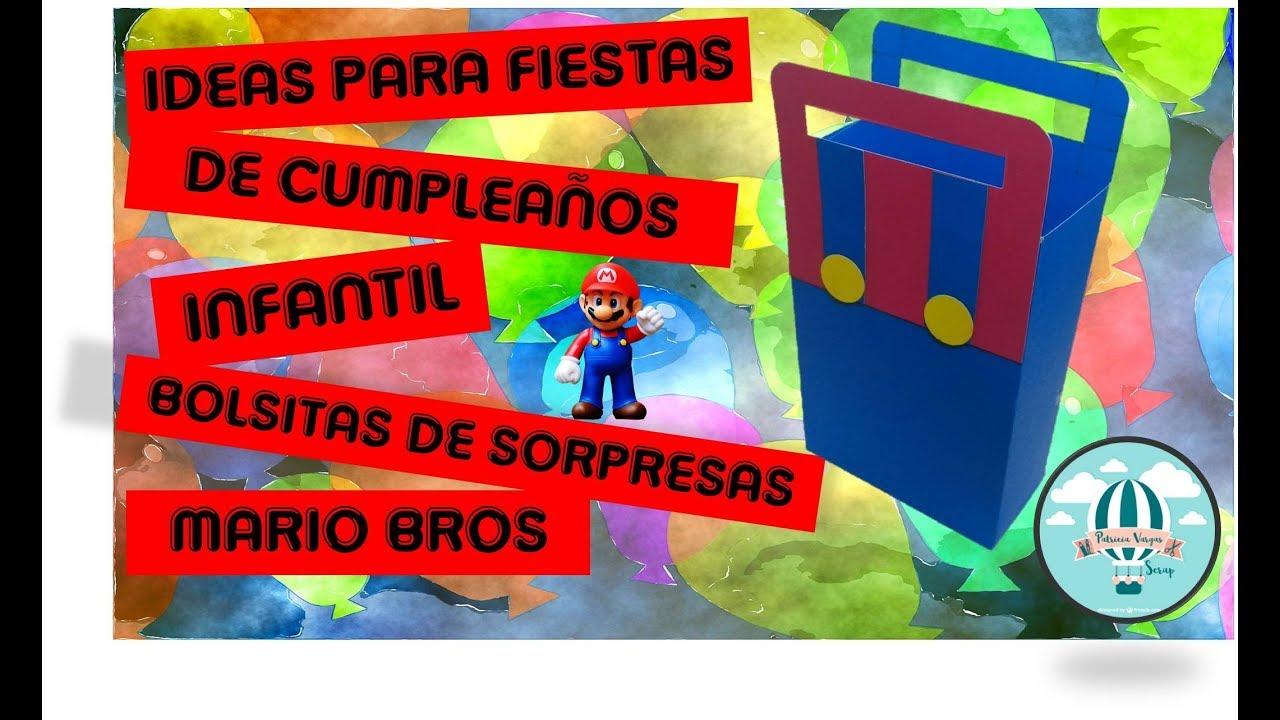 a57a043d4 Idea para fiestas de cumpleaños infantil - Bolsitas de sorpresas Mario Bros  #retoVEDA dia 25