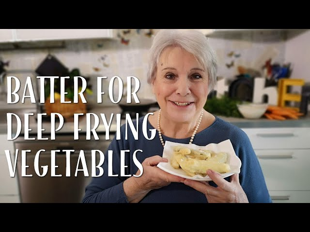 Classic batter for deep frying vegetables - Mamma Giuliana