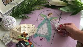 81. Готовая работа Needle Fairy (Фея Иглы). Особенности работы с ниточками ручного окрашивания.
