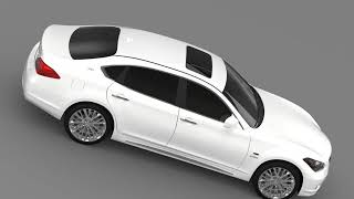 3D Model of Infiniti M35hL Y51 2013 Review