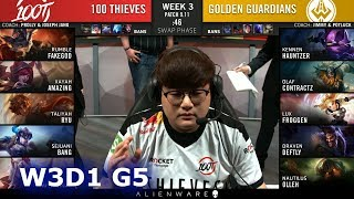 100 vs GGS   Week 3 Day 1 S9 LCS Summer 2019   100 Thieves vs Golden Guardians W3D1