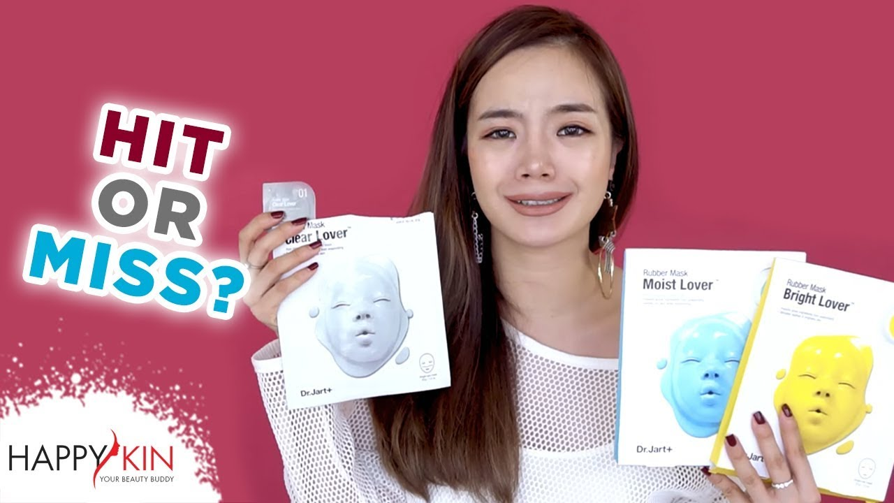Review 12 Loại Mặt Nạ Dr. Jart+: Sheet Mask, Rubber Mask, Shake & Shot | Hit or Miss #9 | Happy Skin