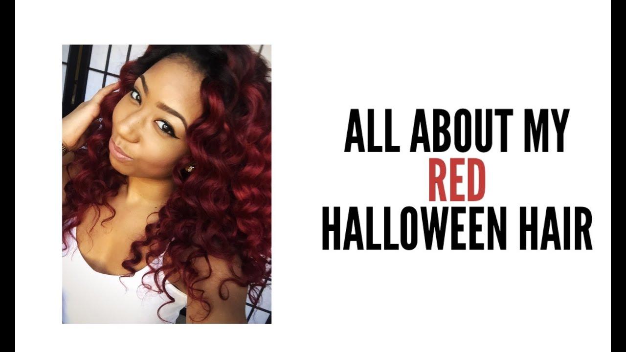 My Red Halloween Hair Youtube