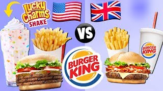 AMERICAN vs. BRITISH Burger King Food