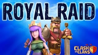 Clash of Clans: Barbarian King and Archer Queen Attack!!