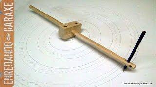 Cómo hacer un compás de varas. Make a beam compass