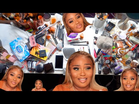 Beauty gurus are not this messy I promise! Makeup cleaning and organizing thumbnail