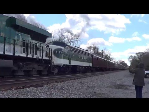 Chasing The Virginian With N&W 611, NS 8099 & SOU 6133 4-9-2016