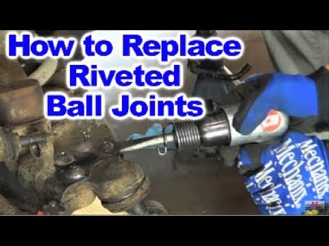 How to Replace Factory  Riveted Upper and Lower Ball Joints on Dodge Dakota 2wd