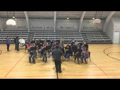The Springport High School Band Performs our National Anthem