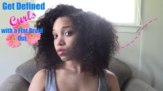 flat braid out natural hair   definition   no frizz   start to finish