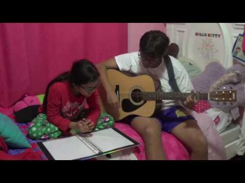 KC and Sydney Alas singing Radioactive by Imagine Dragons in acoustics, 12 2015