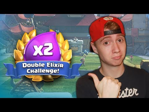 DOUBLE ELIXIR CHALLENGE! 9 Win Deck! (Second Try) | Clash Royale