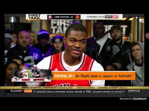 ESPN First Take - Amari Cooper Joins The Set