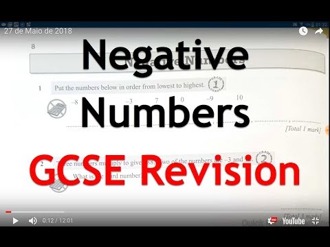 Negative numbers - GCSE Revision