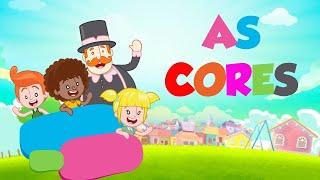 Aprender as cores com desenho infantil - Atividades educativas infantil