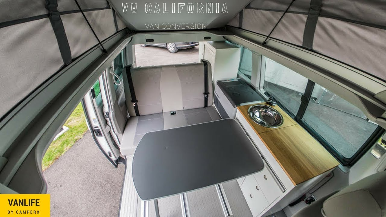 vw california beach innenausbau camper van conversion camperx youtube. Black Bedroom Furniture Sets. Home Design Ideas