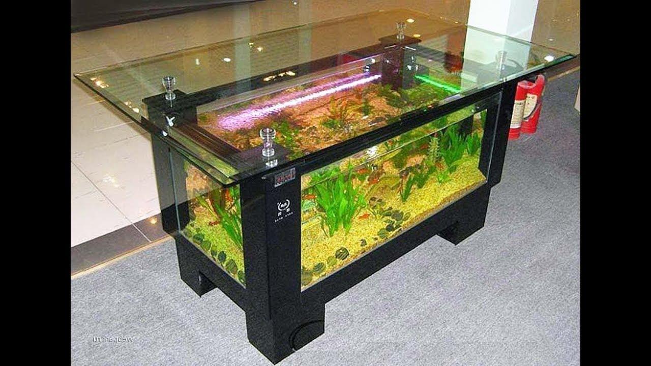 Desain Aquarium Meja Ruang Tamu Rumah Moderen Minimalis