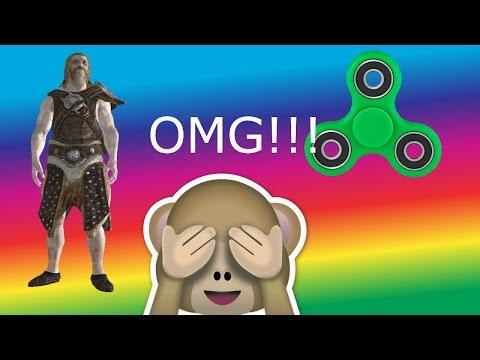 Epic Skyrim Gameplay (Gone Wrong) FIDGET SPINNER HACK!!!