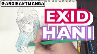Drawing Anime girl EXID Hani (Slow)
