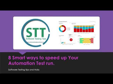 8 Smart ways to speed up Your Automation Test run