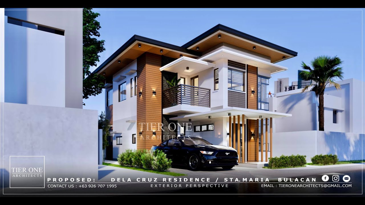 D Residence 200 Sqm House 200 Sqm Lot Tier One Architects Youtube