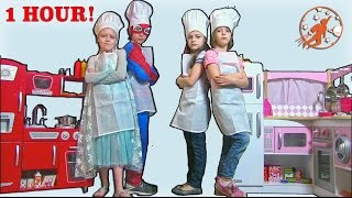 Kids Kitchen Pretend Recipes Compilation Video - 1 Hour Kids Cooking Show