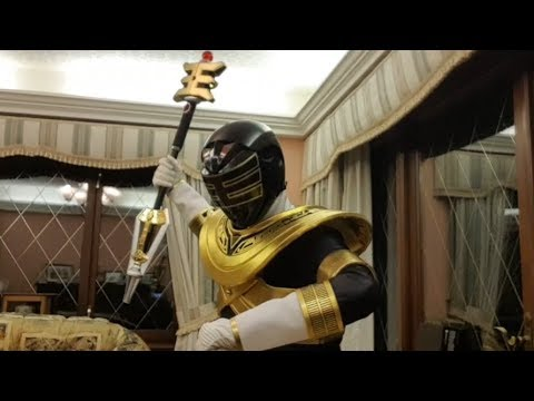 Gold Zeo Ranger Legacy Power Staff Review! With King Ranger cosplay