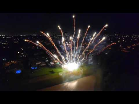 Best Backyard Fireworks July 3, 2016 - Lakes Of Fairhaven Cypress TX - Drone - Pyromusical