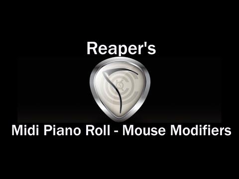 Mouse Modifiers - Midi Piano Roll