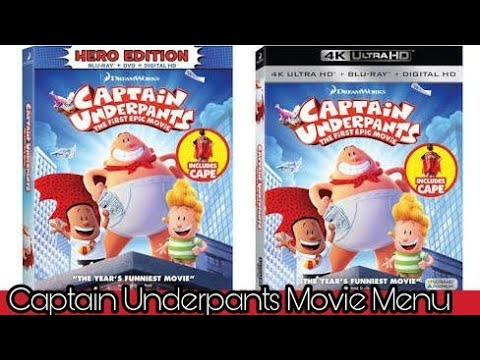 Captain Underpants The First Epic Movie Dvd Blu Ray Menu Youtube