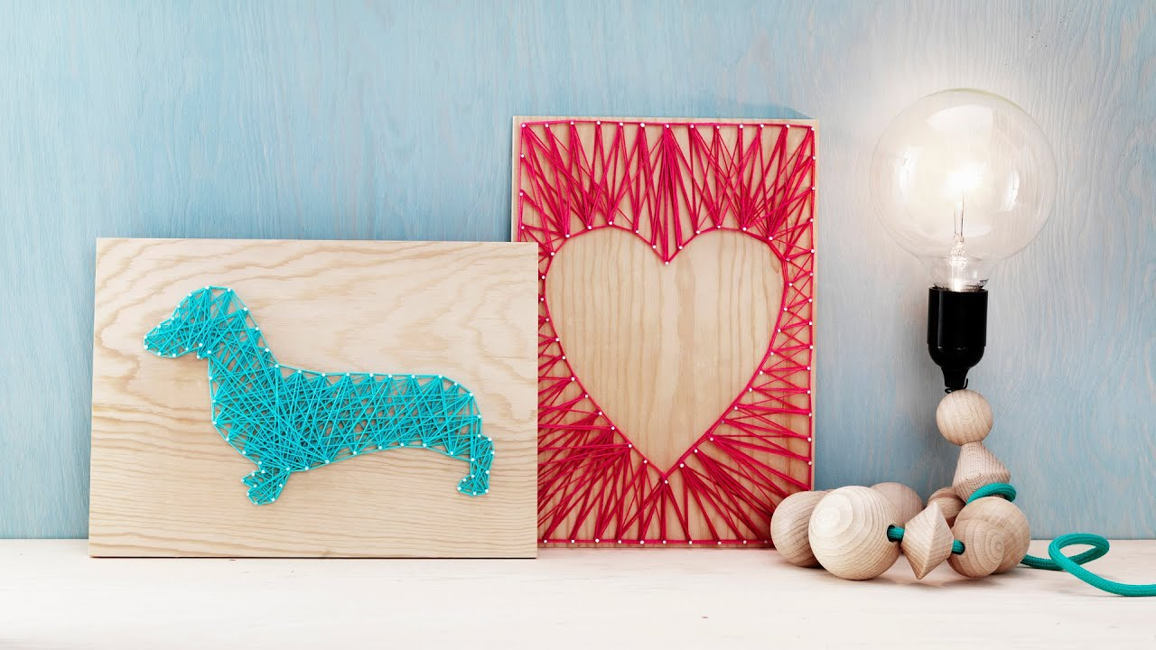 diy by panduro home deco by me string art youtube. Black Bedroom Furniture Sets. Home Design Ideas