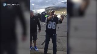 Ashes of Cowboys fan spread outside AT&T stadium