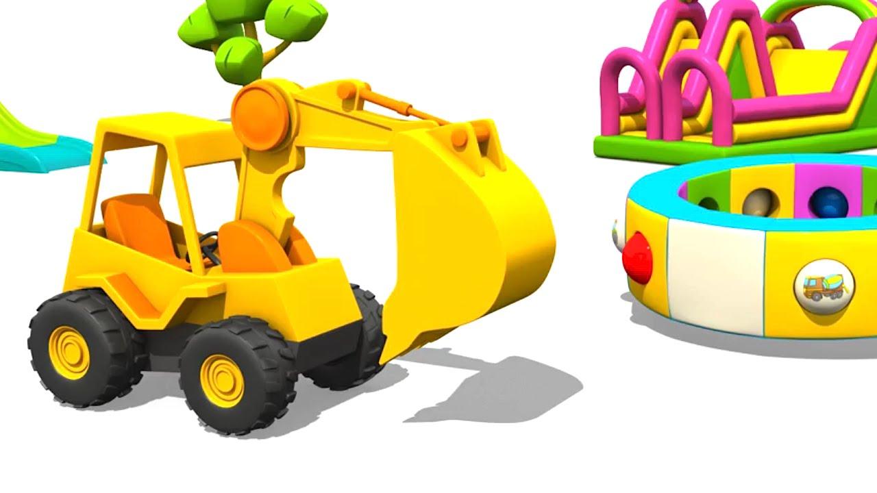 a4794f96f Camiones grandes - Carros para niños - Max la Excavadora - YouTube